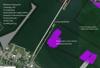 Bill Burton Fishing Pier site map